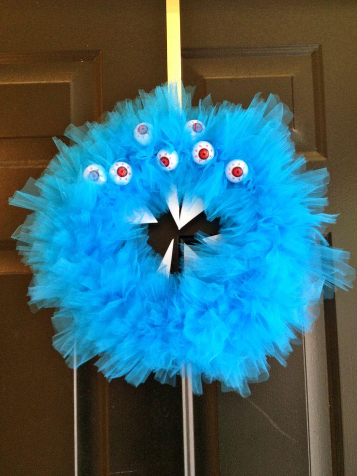 RAWR! A Scary Monster Halloween Wreath