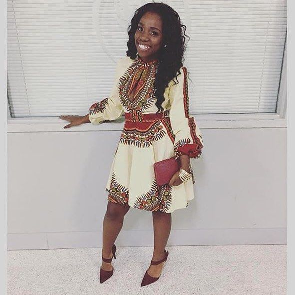 @she_twisted_ is a stunner in the Asikere Afana Zhara Dashiki Dress. And those shoes are killer love // Dress available at Zuvaa.com search: Zhara