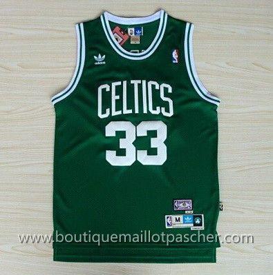maillot nba pas cher Boston Celtics Bird #33 Vert mesh tissu
