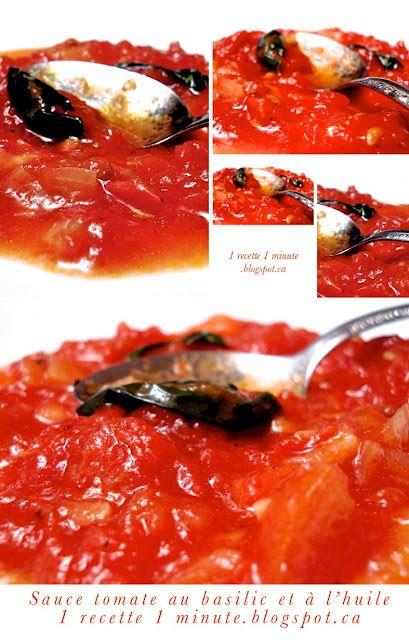 1 recette italienne: Sauce tomate au basilic et à l'huile d'olive