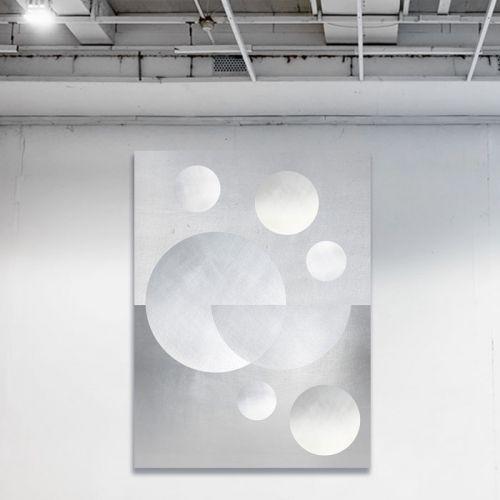 Many Moons White | 76x102cm
