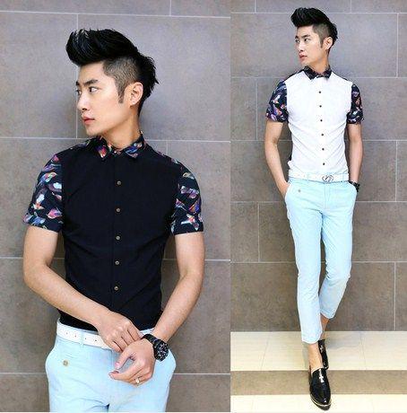 2014 Brand New Popular Design Man Shirt Slim Stylish Fancy Shirts Party Club Clothing Wholesale $22.99