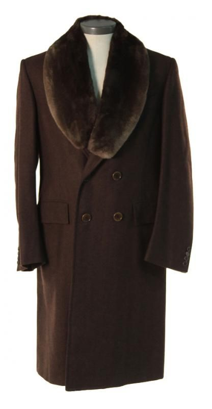 Nucky Thompson's Overcoat with Fur Lapel