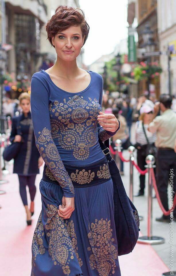 Ősi magyar motívumok, mai modern öltözékeken.... Traditional Hungarian embroidery on modern clothing. True art to wear.