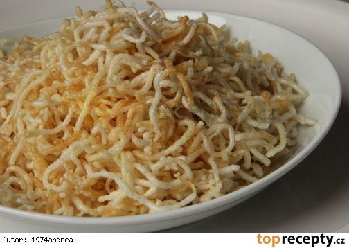 Křupavé rýžové nudličky
