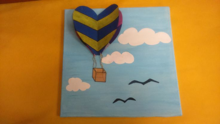 3D handmade airballon canvas