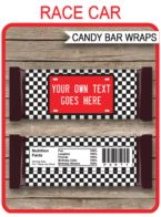 Race Car Hershey Candy Bar Wrappers template – red