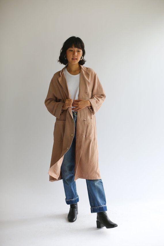 2743363a7027 Vintage Dusty Pink Overdye Shop Coat Mauve Chore Jacket