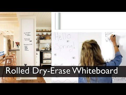 Rolled Dry Erase Whiteboard By Wallpops