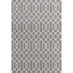 Modern Trellis Pattern Gray 7 ft. 6 in. x 9 ft. 5 in. Area Rug
