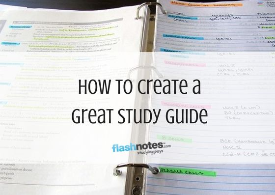 Knowing how to create a study guide is super important when preparing for an upcoming quiz, exam or final. In order to able to create a study guide, you should also master taking notes during a lecture as well as taking notes from a textbook. Perfecting both of these skills will make it extremely easy to compile a study guide.