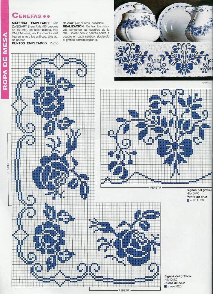 <3. Cross-stitch Blue Floral China