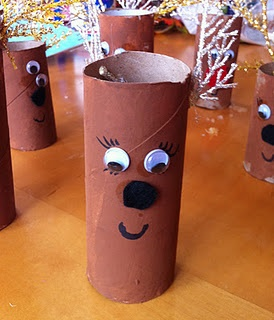 Reindeer!  Toilet Paper Roll Craft