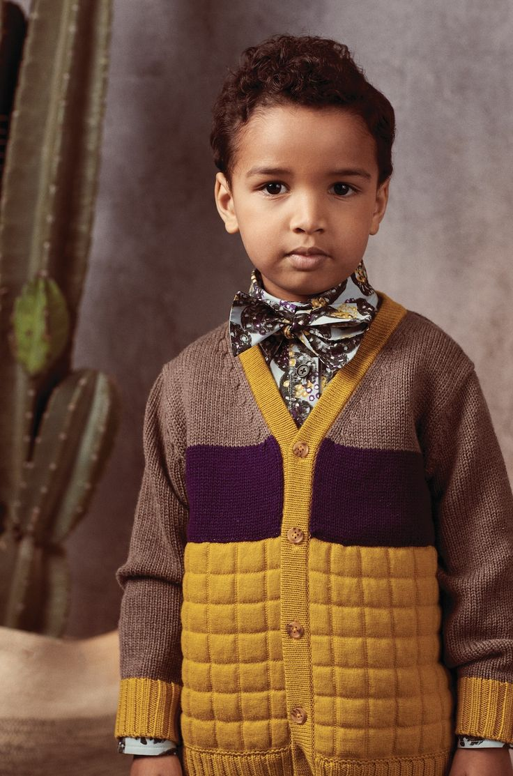 Retro mustard and berry tones for boyswear at Tia Cibani for fall 2017