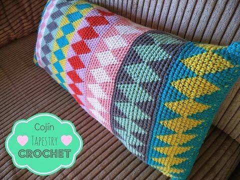 Cojín Tapestry Crochet - How to learn tapestry crochet - YouTube