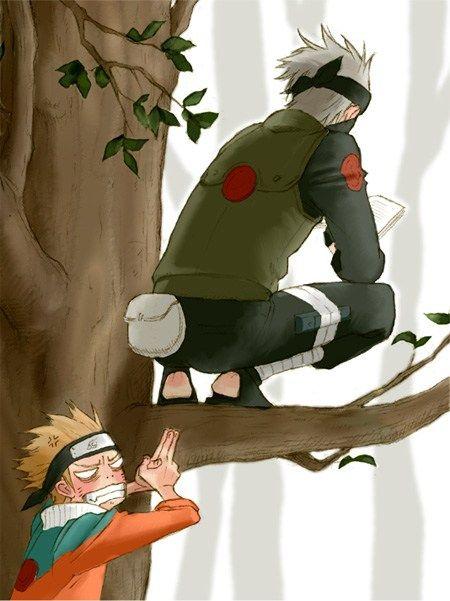 Naruto gets his revenge. #kakashi