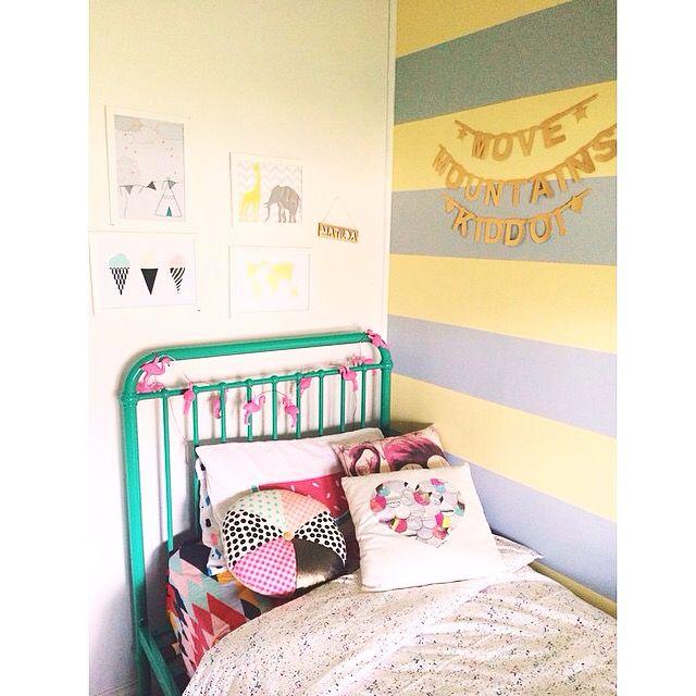 YorkeLee kids prints featured in girls room.