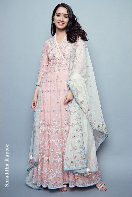 Chanderi silk mull cotton gotta Patti zardosi thread work and sequin