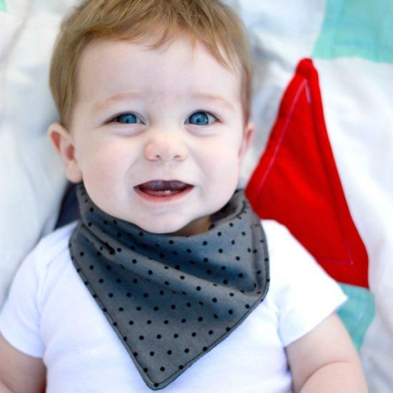 Your babies can drool in style with these bandana bibs. Make one in less than 30 minutes!