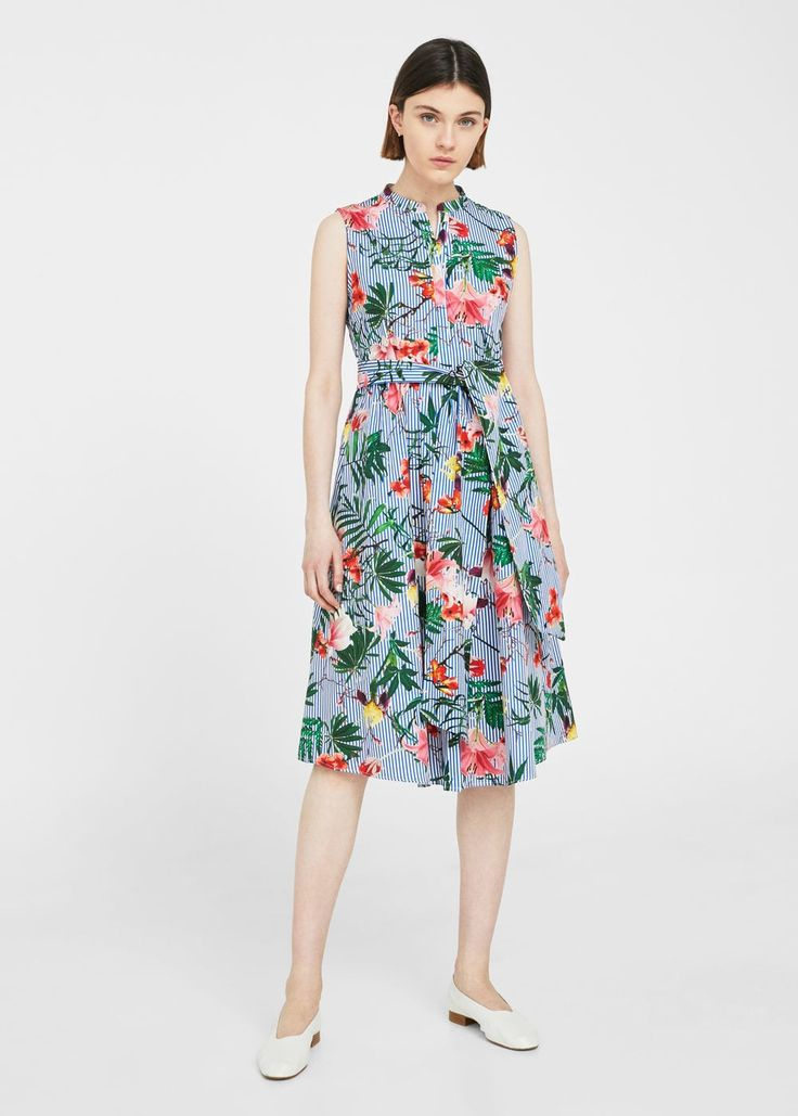 Printed bow dress   MANGO