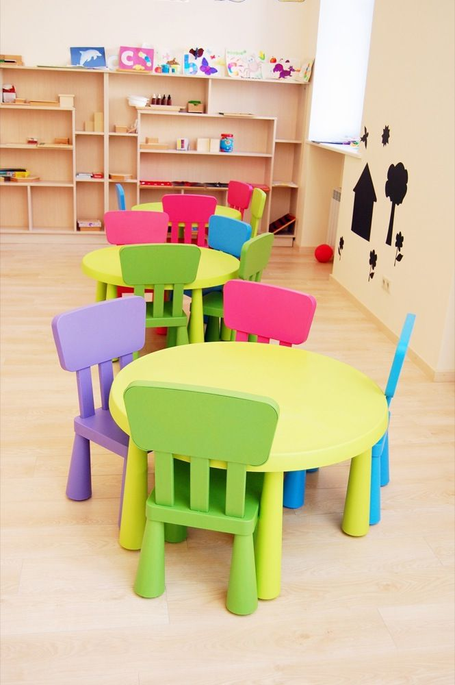 so clean and colorful...my idea of a play room