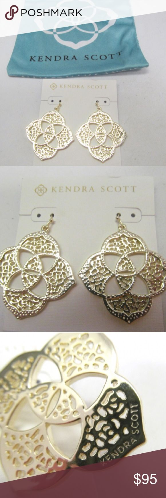 NWT Kendra Scott Filigree Earrings Brand new Kendra Scott earrings!  They are absolutely gorgeous. Unfortunately I don't have much room to budge on price, so price is firm. Kendra Scott Jewelry Earrings