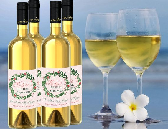 Check out this item in my Etsy shop https://www.etsy.com/listing/270340437/custom-bridal-shower-wine-labels