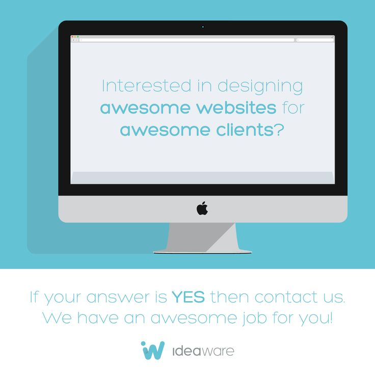 Interested in designing awesome websites for awesome clients? If your answer is YES and you are located at Barranquilla, Colombia; contact us. We have an awesome job for you. http://ideaware.co/careers