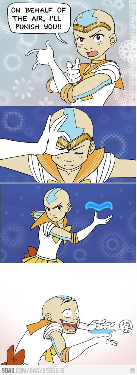 Sailor Aang hahahahahahahaha!!   omg!!!!! AHAHAHAHAHAHAHAHA this is the most perfect thing ever!
