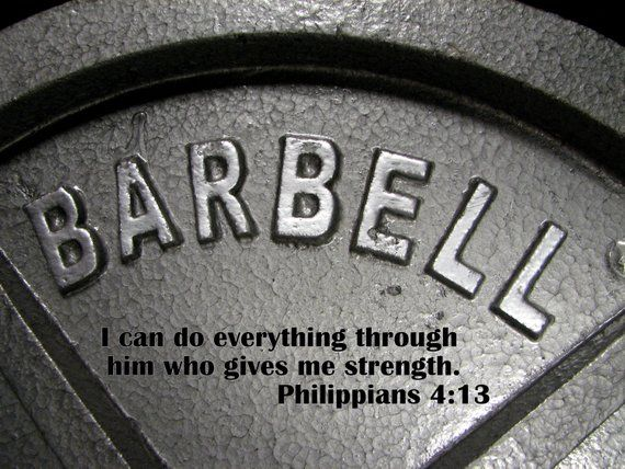 bcfa8fed350c0 bible quote weightlifting art, training, bodybuilding, Christian art ...