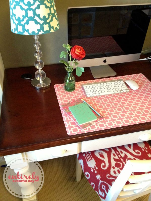 Super quick and easy way to create a custom desk pad