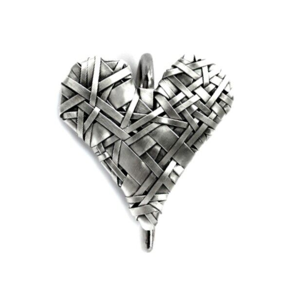 woven heart series of art jewellery ~ celebrating Love & our interconnectedness, by gurgel-segrillo