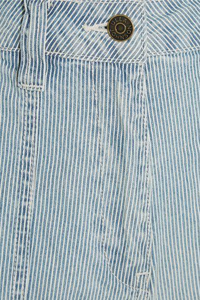 Ulla Johnson - Giada Cropped Striped High-rise Wide-leg Jeans - Mid denim - US10