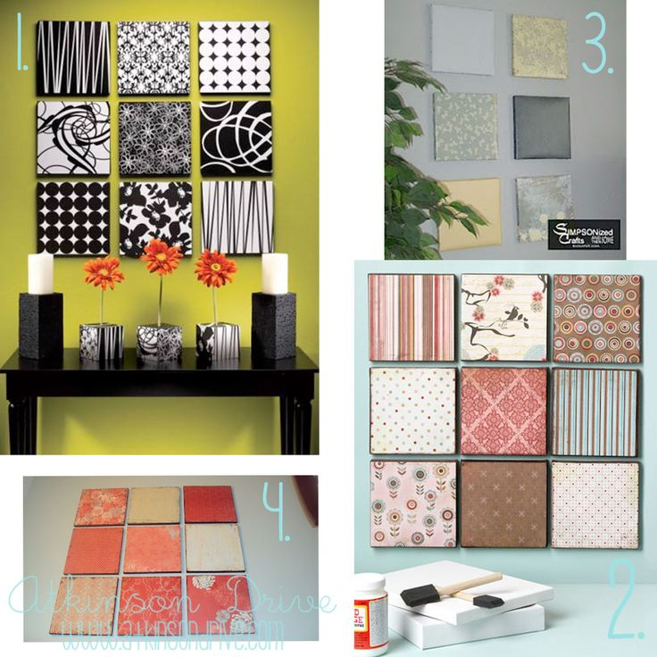 Scrapbook Paper Wall Decor
