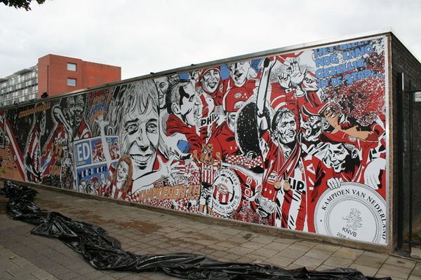 psv eindhoven wall