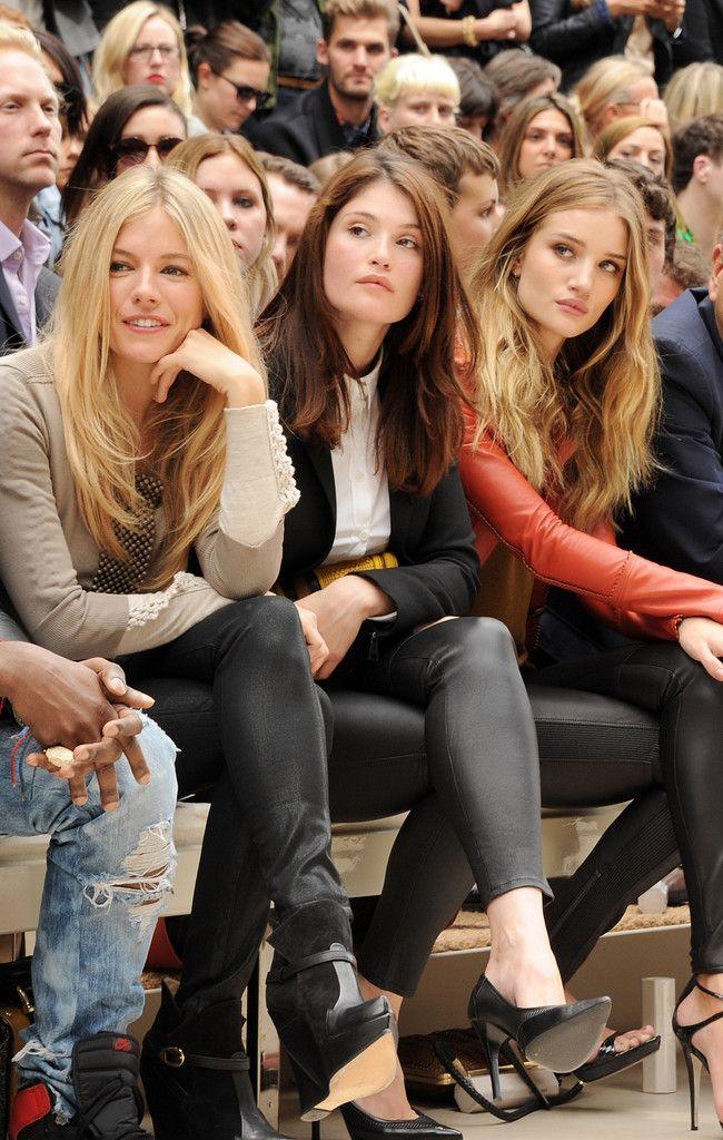 Sienna Miller, Gemma Arterton, Rosie Huntington-Whiteley. Black leather leggings