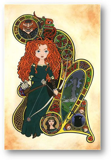 BraveJunk Drawer, Book Of Kells, Brave Art, Disney Princesses, Downtown Disney, Amy Mebberson, Pocket Princesses, Brave Merida, Merida Brave