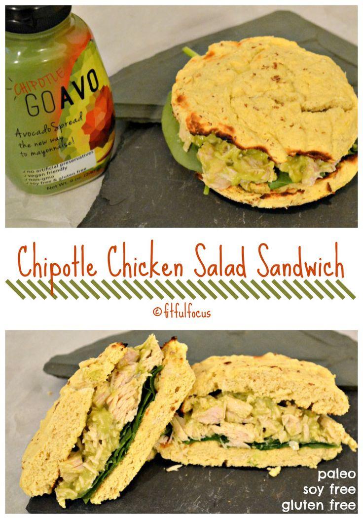 Chipotle Chicken Salad Sandwich | GoAvo Spread | Gluten Free | Paleo | No Mayo…