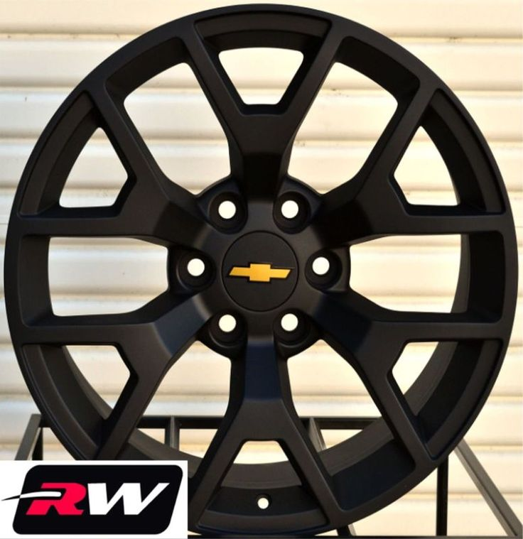 "2014 GMC Sierra Wheels Matte Black 20"" inch 20x9"" Chevy Silverado Suburban Tahoe"