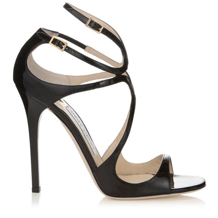 Jimmy Choo sandali Lance sandali di cuoio nero di brevetto