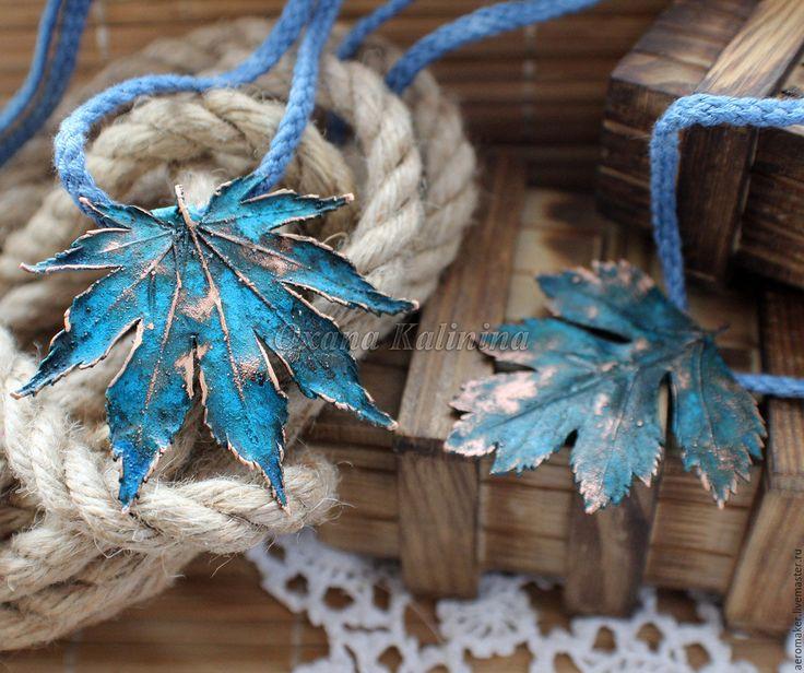 Купить Кулоны Синие, как небо красивые - синий, гальваника, медный кулон, кулон из меди