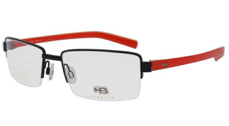 Incrível armação HB! Modelo M93400, um óculos de grau esportivo, resistente a deformações e extremamente leve! Para homens e mulheres, um óculos de grau HB com muito estilo, ideal para a correria do dia a dia!   (Fonte HB)