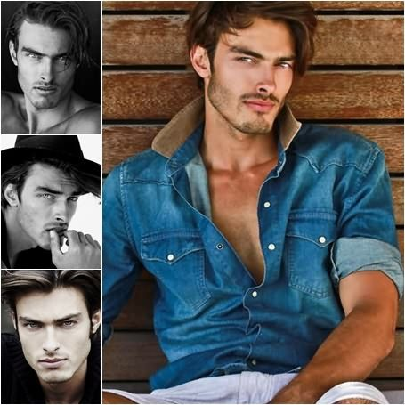 David Rosenberg, male model, photographic collage created by CoverMen Mag team