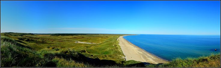 Panorama from the top of Bulbjerg, looking West towards Lild Strand