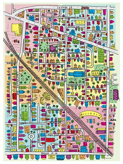 Brockton map by tania on Etsy