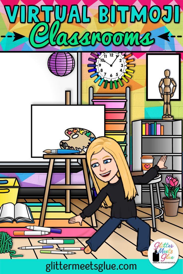 15 Awesome Virtual Bitmoji Classroom Ideas Art Classroom Teaching Technology Classroom