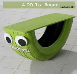Summer fun Ideas- Tyre rocker- Make for Kaylee- 1 for our house 1 for hers