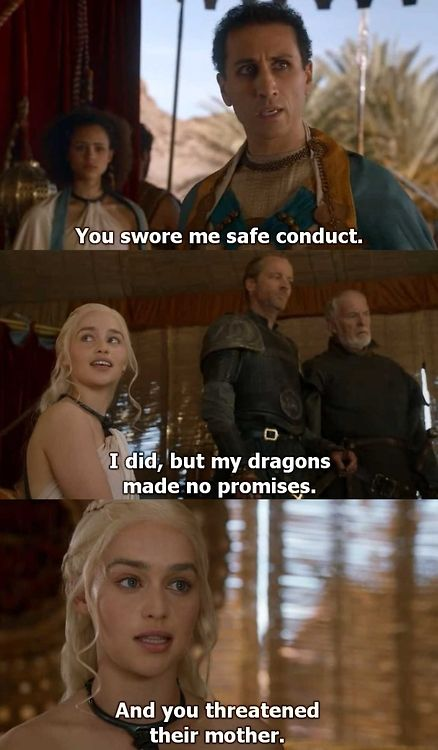 Emilia Clarke is killing it this season on Game of Thrones - awesome stuff