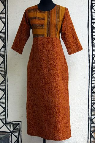 long kurta - henna bagh & pockets – maati crafts