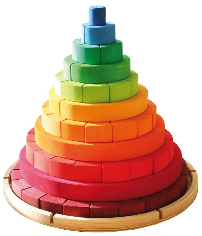 Grimm's Toys Rainbow Circle In A FrameMore Pins Like This At FOSTERGINGER @ Pinterest